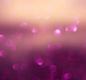Blurred abstract brown and purple bokeh lights and textures. image is defocused Stock Images