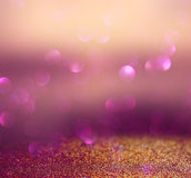 Blurred abstract brown and purple bokeh lights and textures. image is defocused Stock Photo