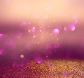 Blurred abstract brown and purple bokeh lights and textures. image is defocused Royalty Free Stock Images