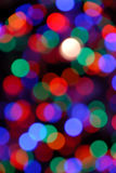Blurred Abstract of Christmas Lights Royalty Free Stock Image
