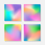 Blurred abstract colorful backgrounds. Set of blurred abstract colorful backgrounds Stock Images