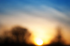 Blurred abstract colorful nature sunset background Royalty Free Stock Photos