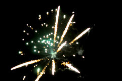 Blurred abstract image of firework. On dark background Royalty Free Stock Image