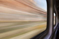 Blurred abstract landscape from train Stock Images