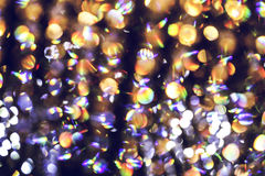 Blurred abstract light of luxury lamp at night for party or celebration background. Perfect for your presentations Stock Photography