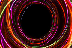 Blurred abstract line from LED light. On the black background Royalty Free Stock Photos