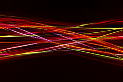 Blurred abstract line from LED light. On the black background Royalty Free Stock Image