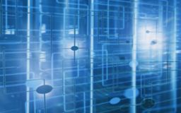 Blurred Abstract modern data center room. Electronic computer hardware technology concept.  Wallpapers Technology background. Blurred Abstract modern data royalty free illustration
