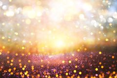 Blurred abstract photo of light burst among trees and glitter go royalty free stock photo