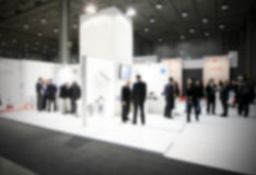 Blurred abstract trade show, intentionally blurred background Royalty Free Stock Photo