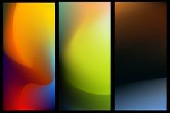 Blurred abstract vector backgrounds set for banner. Nature backdrop for design. EPS 8 vector illustration