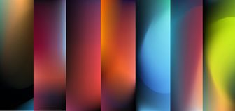 Blurred abstract vector backgrounds set for banners. T. Nature backdrop for design. EPS 8 vector illustration