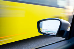 Blurred action. From car at high speed Royalty Free Stock Image