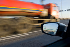 Blurred action. From car at high speed Stock Photos