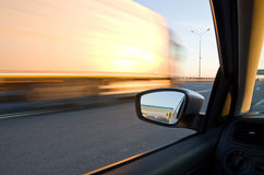 Blurred action. From car at high speed Stock Images