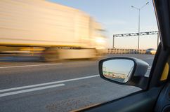 Blurred action. From car at high speed Royalty Free Stock Photography