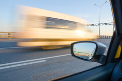 Blurred action. From car at high speed Royalty Free Stock Images