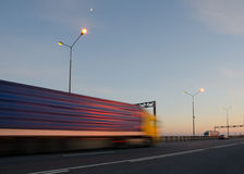 Blurred action from car. At high speed Royalty Free Stock Photos