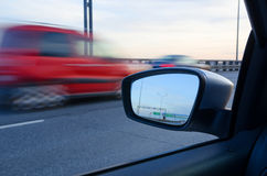 Blurred action from car. At high speed Stock Image