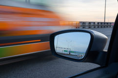 Blurred action from car Royalty Free Stock Image