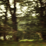 Blurred action from car at high speed - retro filter photography. Stock Photos