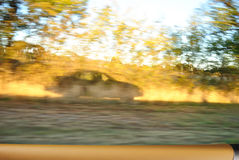 Blurred Action from Car at High Speed Royalty Free Stock Photos