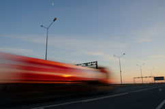 Blurred action at high speed. Blurred action from car at high speed Stock Photo