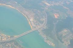 Blurred Aerial View of Landscapes phuket in Thailand Stock Photography