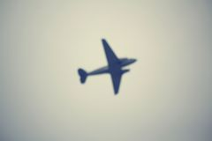 Blurred of aircraft Royalty Free Stock Photography