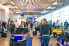 Blurred airport view. Royalty Free Stock Photos