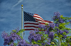 Blurred American Flag Stock Photo