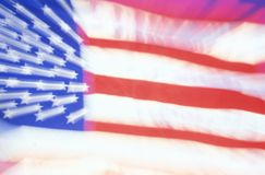 Blurred American Flag, United States Stock Photos