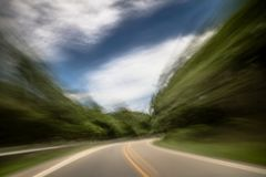 Free Blurred And Double Vision While Driving Stock Photo - 116450230