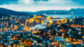 Blurred Architecture Background of Bergen, Norway Royalty Free Stock Photo
