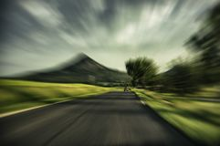 Blurred asphalt road royalty free stock photo
