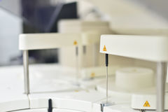 Blurred automate chemistry laboratory equipment medical science. Background Stock Images