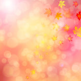 Blurred autumn leaves bokeh background illustration Royalty Free Stock Photos