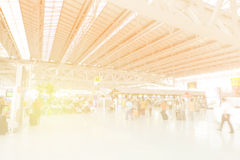 Blurred background at airport Stock Photography