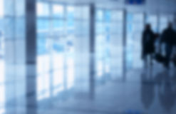 Blurred Background Airport Royalty Free Stock Photos