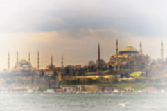 Blurred Background Blue  and Hagia Sophia Royalty Free Stock Photo