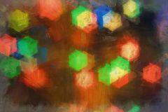 Blurred background- bokeh abstract. Abstract outline of light- colored circles bokeh. Blurred background Royalty Free Stock Photos