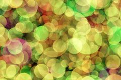 Blurred background- bokeh. Abstract outline of light- colored circles bokeh. Blurred background Royalty Free Stock Photography