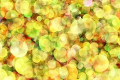 Blurred background- bokeh. Abstract outline of light- colored circles bokeh. Blurred background Royalty Free Stock Photos