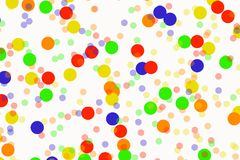 Blurred background- bokeh. Abstract outline of light- colored circles bokeh. Blurred background Stock Photo