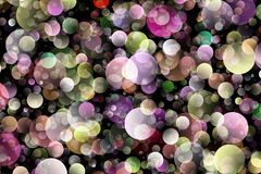 Blurred background- bokeh. Abstract outline of light- colored circles bokeh. Blurred background Stock Images