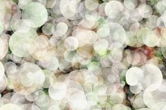 Blurred background- bokeh. Abstract outline of light- colored circles bokeh. Blurred background Stock Photography