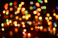 Blurred background, bokeh with colorful lights, holiday lighting Royalty Free Stock Photos