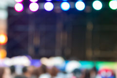 Blurred background : Bokeh lighting in stage with Dance showbiz Royalty Free Stock Images