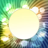 Blurred background with bokeh and pattern. Round sticker Royalty Free Stock Photo