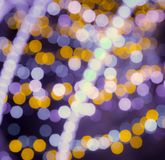 Blurred background bokeh. Soft lights background with lens flare stock illustration